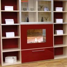 Intégrée étagère, ouverte sur cuisine